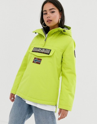 Napapijri Rainforest Winter 3 overhead jacket in lime