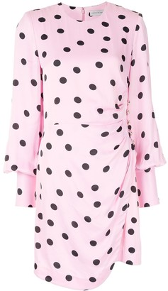 Rebecca Vallance Mattel asymmetric polka-dot print mini dress