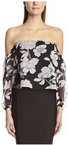 Lucca Couture Women's Off-the-Shoulder Crop Top