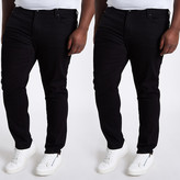 River Island Big and Tall Sid skinny fit jeans 2 pack