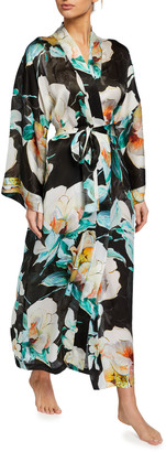 Christine Lingerie Ophelia Floral Print Long Robe