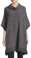 Joie Hatice Tweed Cowl-Neck Tunic Sweater