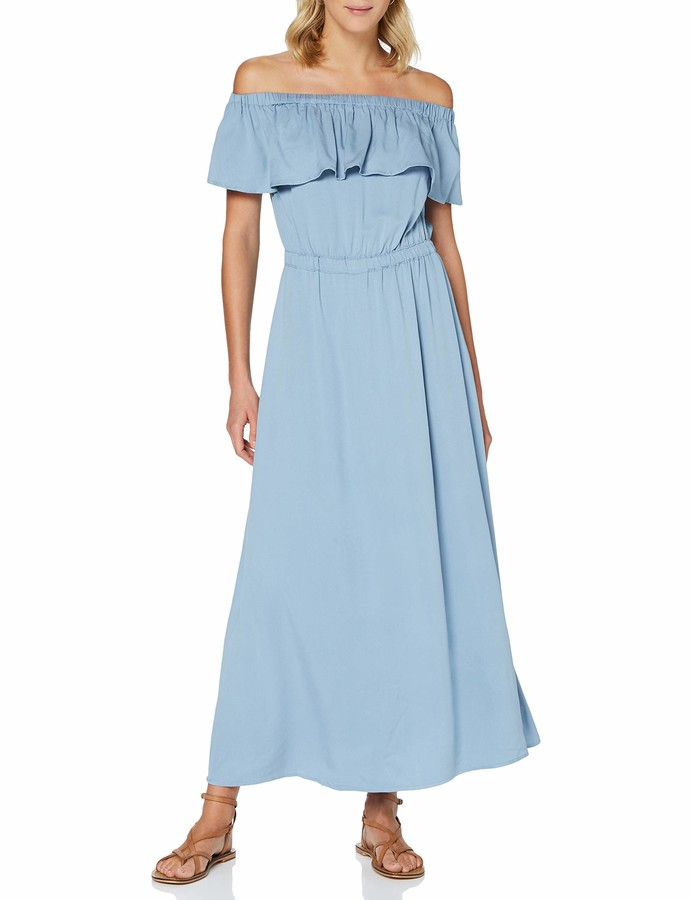 Only Women's ONLALMA Life VIS Offshoulder Dress Solid
