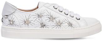 Aquazzura Cosmic Star La Studded Leather Sneakers