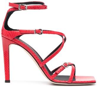 Giuseppe Zanotti Snakeskin-Effect High-Heel Sandals