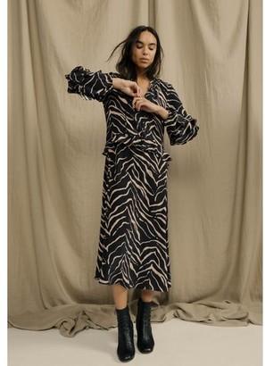 Lily & Lionel Tiger Black Rina Dress - xsmall