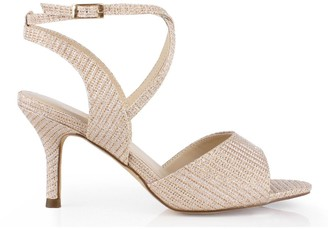 Paradox London Glitter 'Hadora' Wide Fit Mid Heel Sandal