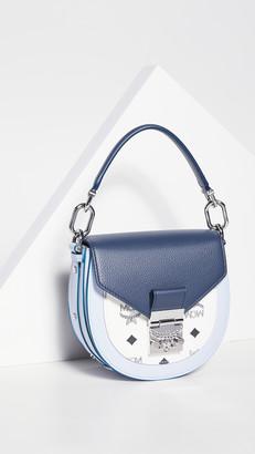 MCM Patricia Visetos Leather Block Shoulder Bag