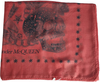 Alexander McQueen Red Viscose Scarves