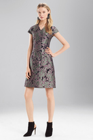 Josie Natori Ornamental Jacquard VNeck Dress