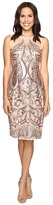 Adrianna Papell Sequin Panel Illusion Cocktail Dress