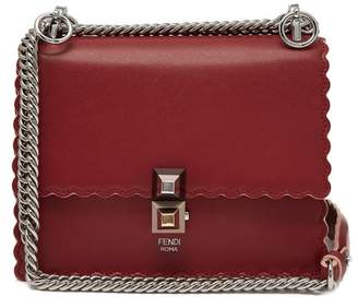 Fendi Kan I Small Leather Cross-body Bag - Womens - Red