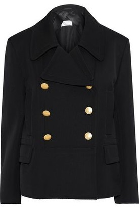 Maison Margiela Double-breasted Wool And Cotton-blend Gabardine Trench Blazer