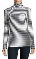 Splendid Striped Turtleneck Pullover