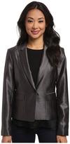 Calvin Klein One-Button Shiny Jacket