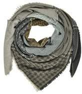 Marina D'Este Women's Grey Wool Scarf.