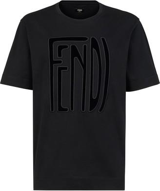 Fendi large logo patch T-shirt