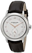 Raymond Weil Men's 2838-SL5-05658 Maestro Stainless Steel Automatic Watch with Leather Band