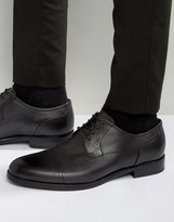 Hugo By Hugo Boss Tempt Textured Toe Cap Derby Shoes