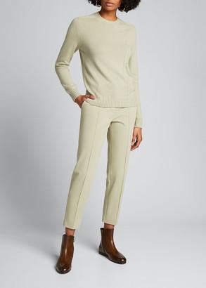 Loro Piana Winter Derk Aster Cropped Slim-Leg Stretch-Cotton Pants