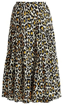 Marc Jacobs The Prairie Leopard Print Skirt