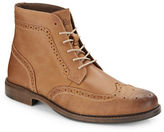 G.H. Bass Heritage Brogued Lace-Up Leather Boots