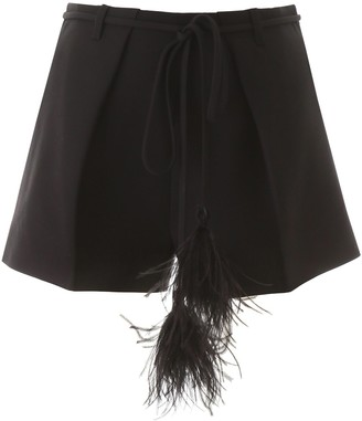 Valentino Couture Feather Tassel Shorts