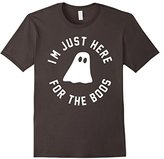 Men's I'm Just Here for the Boos Shirt, Funny Halloween Drinking Medium