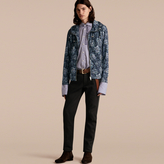 Burberry Peony Rose Print Lightweight Jacket