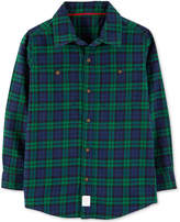 Carter Little & Big Boys Plaid Twill Button-Front Cotton Shirt