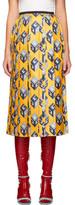 Gucci Yellow Gg Wallpaper Skirt