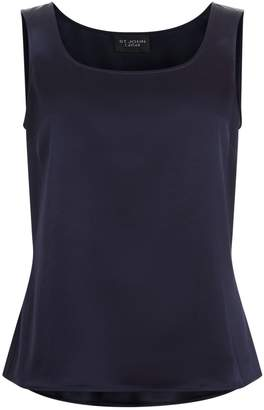St. John Liquid Satin Sleeveless Top