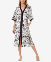 Ellen Tracy Zip-Front Caftan Nightgown