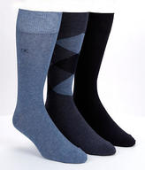 Calvin Klein Men's Diamond and Solids Dress Socks 3-Pack