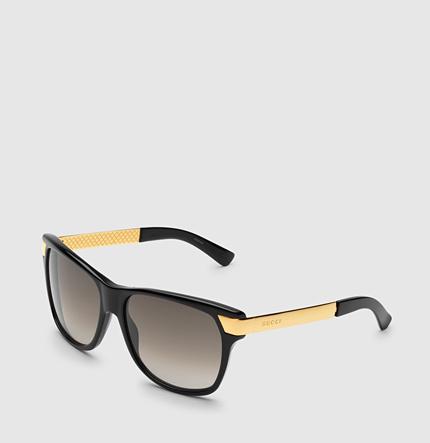 Gucci 80's Inspired Rectangular Sunglasses