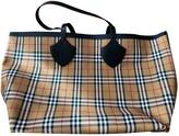 Burberry The Giant Beige Cloth Handbags