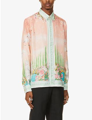 Casablanca Maison De Repos graphic-print silk shirt
