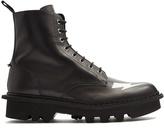 Neil Barrett Lightning-bolt leather ankle boots