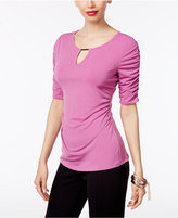 Thalia Sodi Ruched Hardware Top, Only at Macy's