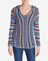 Eddie Bauer Women's Baja Hooded Sweater - Stripe