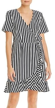 Vero Moda Striped Faux Wrap Dress