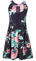 I.N. Girl Big Girls 7-16 Floral-Print Crochet Dress
