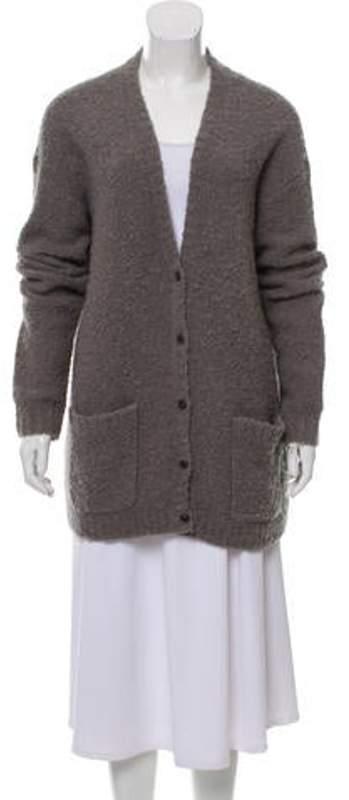 ATM Anthony Thomas Melillo Cashmere Knit Cardigan Grey Cashmere Knit Cardigan