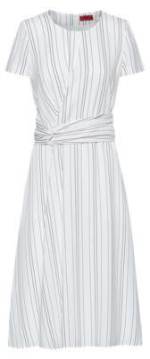 HUGO BOSS Striped dress with waist detail