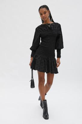 GHOSPELL Modernism Smocked Mini Dress