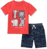 Kids Headquarters Baby Boys 2-Pc. Safari T-Shirt & Shorts Set