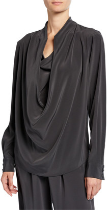 Co Draped-Front Tunic