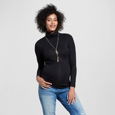 Expected by Lilac Maternity Long Sleeve Turtleneck Black