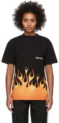Palm Angels Black Flames T-Shirt