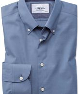 Charles Tyrwhitt Classic fit button-down business casual non-iron mid blue shirt